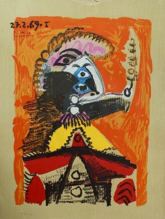 Lithograph Picasso - Portraits Imaginaires 27.2.69 I