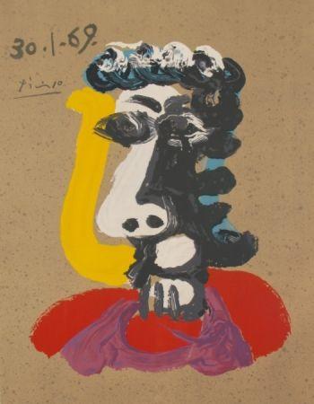 Lithograph Picasso - Portraits Imaginaires 30.1.69