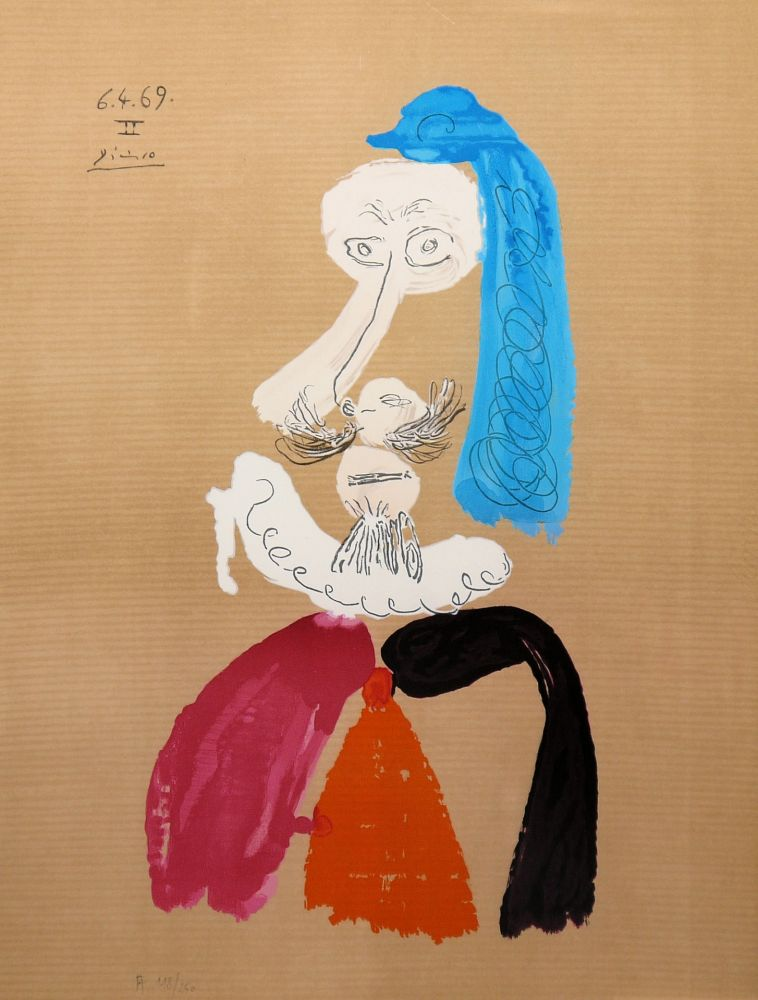 Lithograph Picasso - Portraits Imaginaires 6.4.69 II