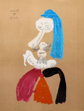 Lithograph Picasso - Portraits Imaginaires 6.4.69 II