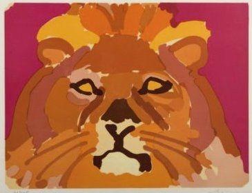 Lithograph Lapicque - Portrati de leon