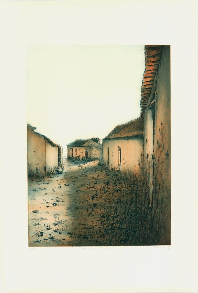 Etching And Aquatint Gortner - Portugiesische Dorfstrasse