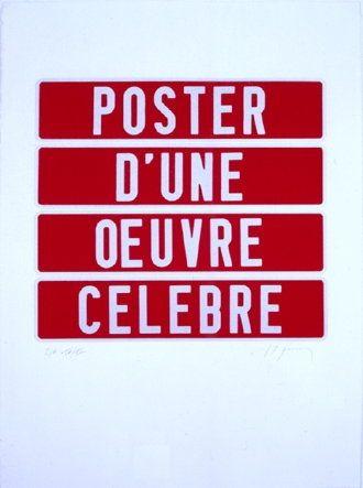 Screenprint Ducorroy - Poster d'une oeuvre célèbre