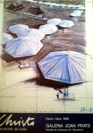 Poster Christo - POSTER EXHIBITION 1986. HANSIGNED.