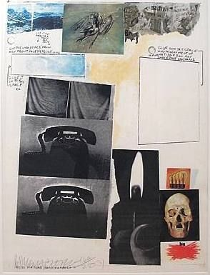Screenprint Rauschenberg - Poster for Peace