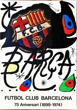 No Technical Miró -  Poster for the 75th Anniversary of the Barcelona Football Club