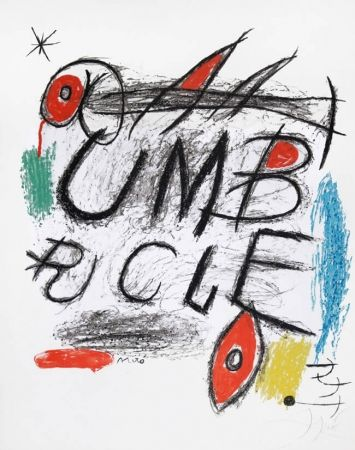 Lithograph Miró - Poster for the film 'Umbracle,' 1973
