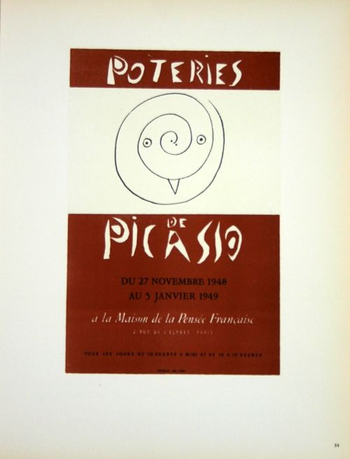 Lithograph Picasso (After) - Poteries 1948