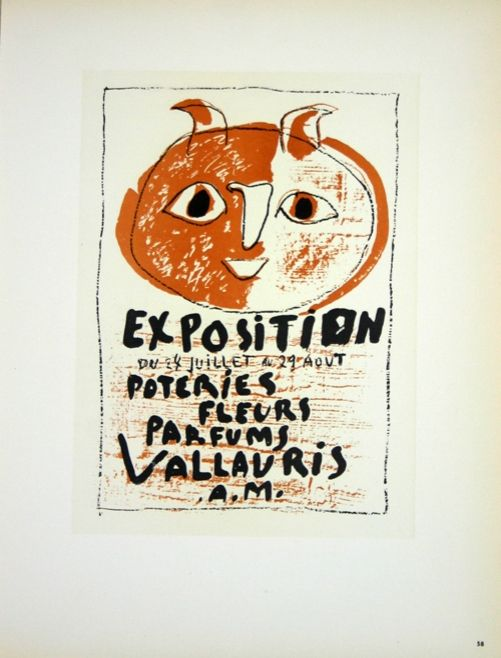 Lithograph Picasso (After) - Poteries Fleurs  Parfums  Vallauris 1958
