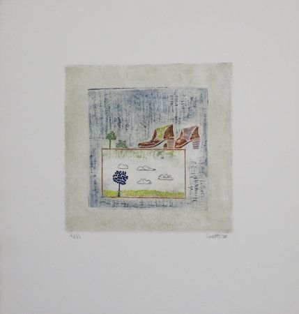 Etching And Aquatint Louttre - Pour aller loin, il faut...  / To Go Far, You Must...