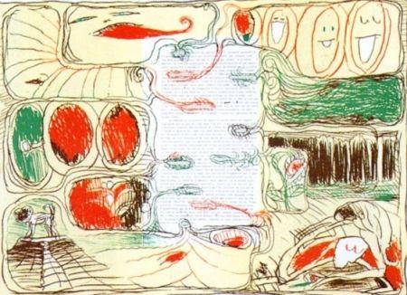 Lithograph Alechinsky - Pour Claude Simon