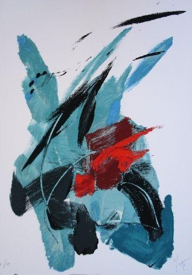 Lithograph Miotte - Pour Garcia Lorca