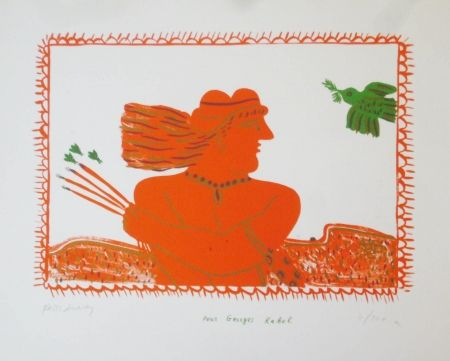 Lithograph Fassianos - Pour Georges Rabol