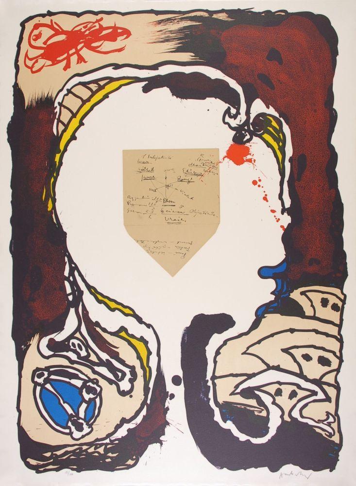 Lithograph Alechinsky - Pour Jorn