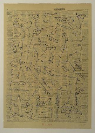 Lithograph Saura - Pour Jorn