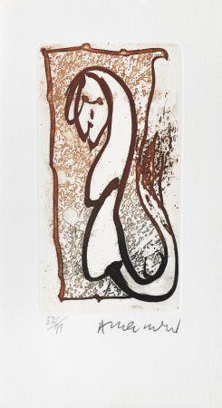 Etching Alechinsky - Pour Joyce Mansour