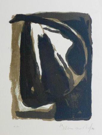 Lithograph Van Velde - Pour Le crime d'une nuit d'E. Bove