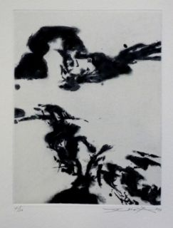 Etching And Aquatint Zao - Pour sonnets SHAKESPEARE 3