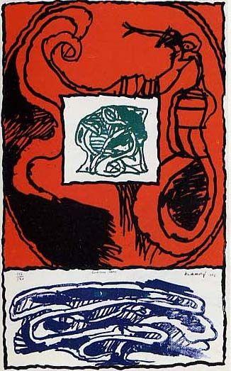 Lithograph Alechinsky - Premier acte