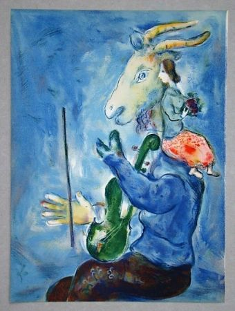 Lithograph Chagall - Printemps