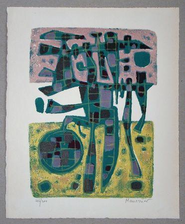 Lithograph Manessier - Printemps Nordique II. - 1956
