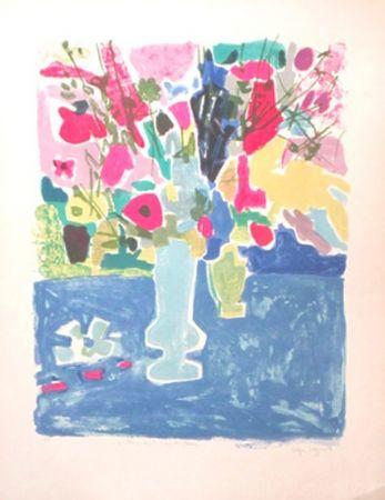 Lithograph Bezombes - Printemps sous le signe des fleurs
