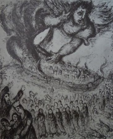 Engraving Chagall - Prise de Jerusalem