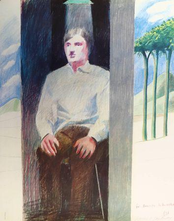 Lithograph Hockney - Prisoner