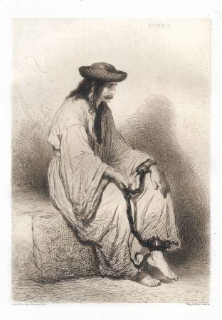 Etching Valério - Prisonnier hongrois (Hungarian Prisoner)