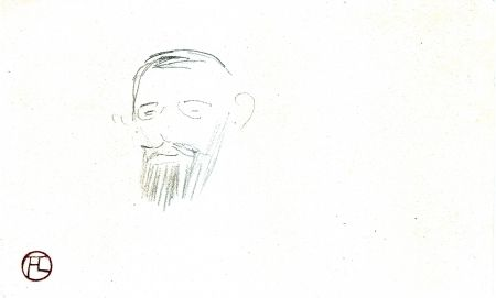 No Technical Toulouse-Lautrec - Procès Arton — Tête de monsieur Jacques Saint-Cère
