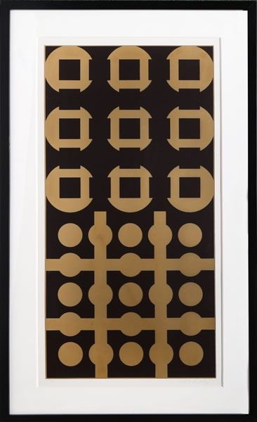Screenprint Vasarely - Procion from Constellations