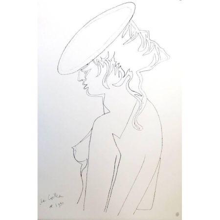 Lithograph Cocteau - Profil de Femme