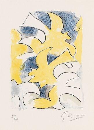 Lithograph Braque - Profil (Profile) from Lettera amorosa
