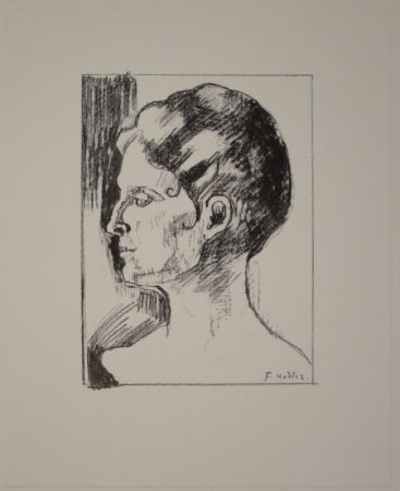Lithograph Hodler - Profilbildnis von Frau Hodler.