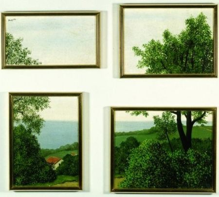 Lithograph Magritte - Profondeur de la terre ou paysage, 1930