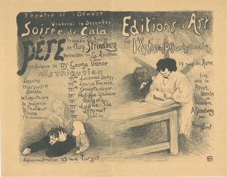Lithograph Vallotton - Programme pour