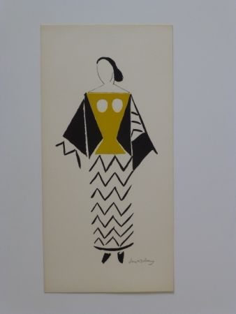 Lithograph Delaunay - Projet De Costume