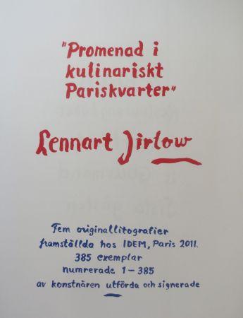 Lithograph Jirlow - Promenade culinaire a PARIS