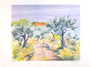 Lithograph Zarou - Promenade matinale