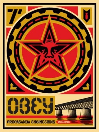 Screenprint Fairey - Propaganda Engineering, Large Format