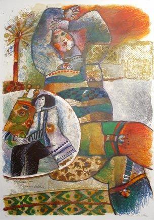 Lithograph Tobiasse - Prophetesse