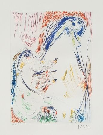 Etching And Aquatint Jorn - Proposition enceinte