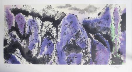 Lithograph Po Chung - Prosperous purple