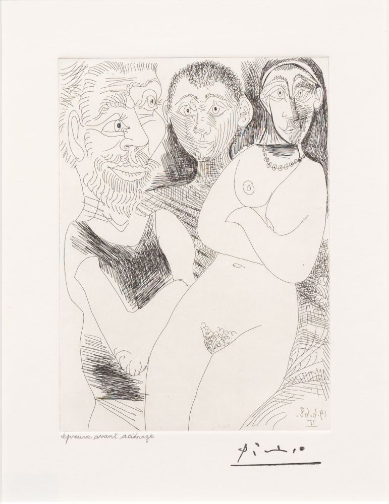 Etching Picasso - Prostitutee et Marins