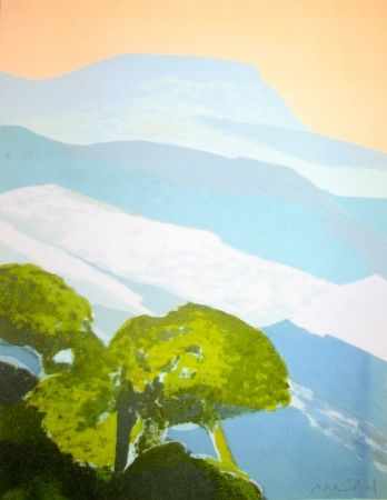 Lithograph Muhl - Provence