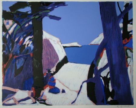 Lithograph Godard - Provence