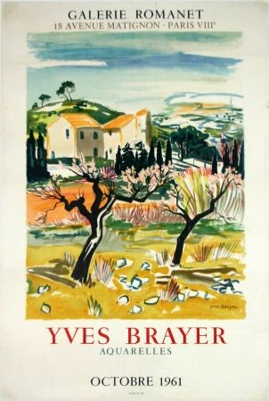 Lithograph Brayer - Provence Galerie Romanet