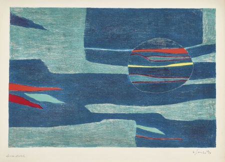 Lithograph Singier - Provence : soleil, mer froide