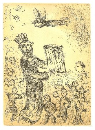 Drypoint Chagall - Psaumes de David 1