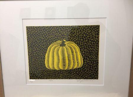 Lithograph Kusama - Pumpkin